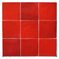 ZELLIGES - FLAME RED  10x10x1 CM 46